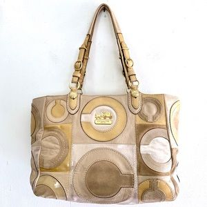 Coach VTG Patchwork Collection Tote Bag